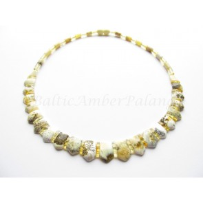 White baltic amber choker