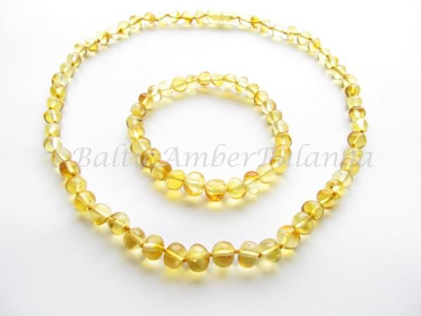Baltic amber jewelry set