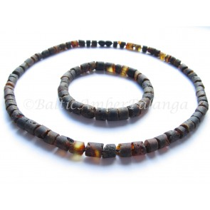 Baltic amber jewelry set